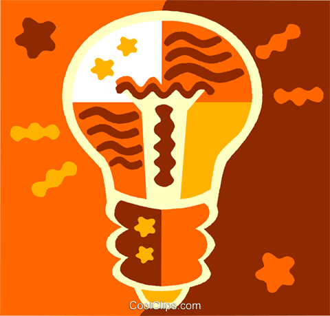 light bulb Royalty Free Vector Clip Art illustration vc011599