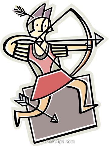 archer Royalty Free Vector Clip Art illustration vc011618