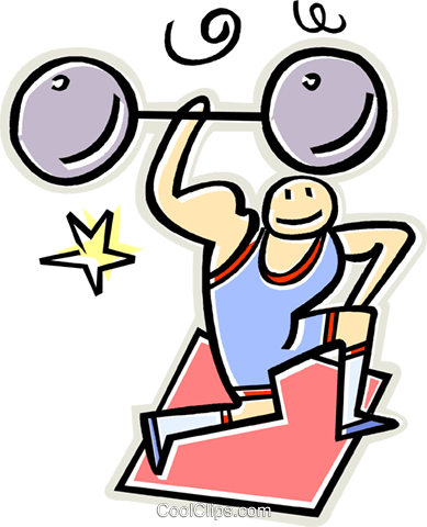 weight lifter Royalty Free Vector Clip Art illustration vc011619