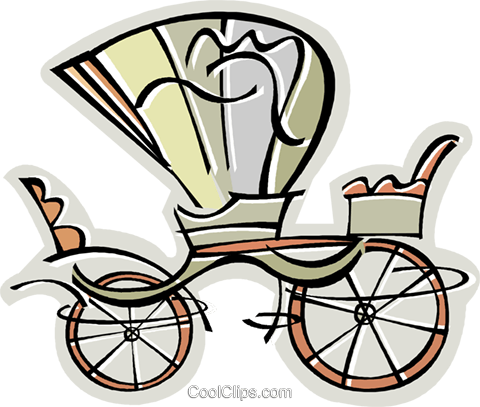 carriage Royalty Free Vector Clip Art illustration vc011621