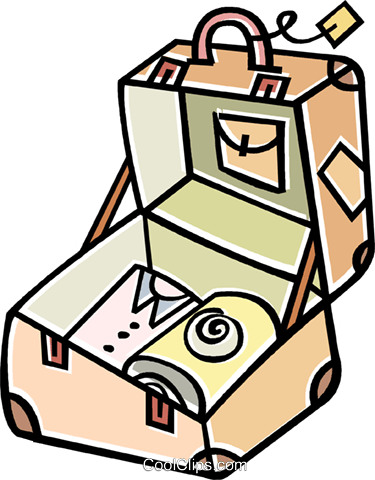 suitcase Royalty Free Vector Clip Art illustration vc011622