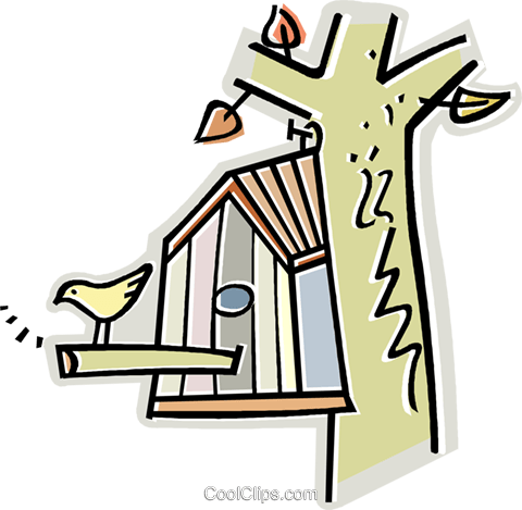 bird house Royalty Free Vector Clip Art illustration vc011623