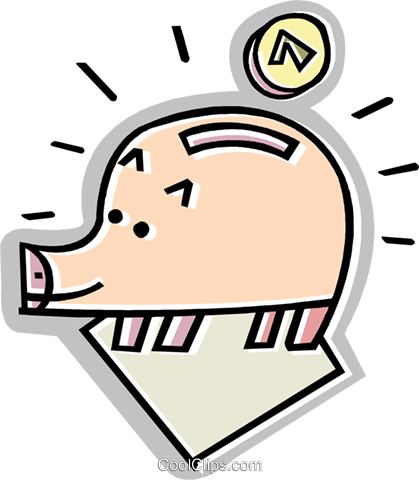 piggy bank Royalty Free Vector Clip Art illustration vc011624
