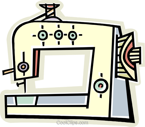 sewing machine Royalty Free Vector Clip Art illustration vc011628