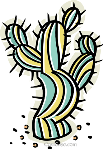cactus Royalty Free Vector Clip Art illustration vc011629