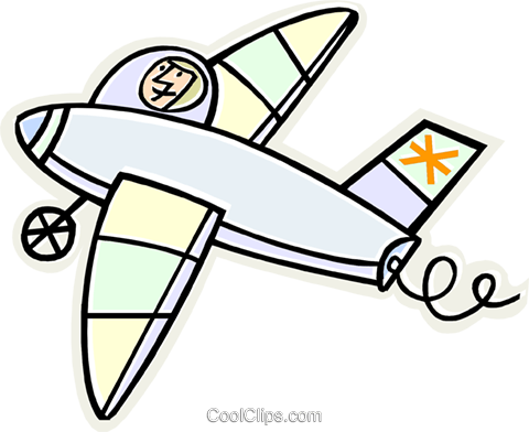 airplane Royalty Free Vector Clip Art illustration vc011631