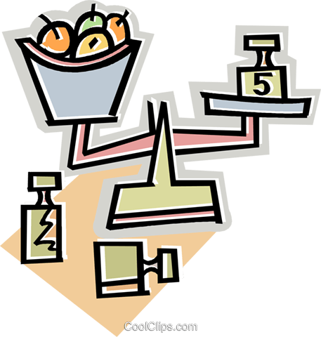 scale Royalty Free Vector Clip Art illustration vc011640