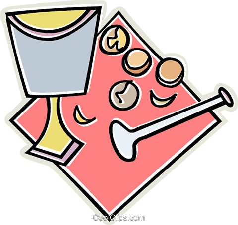 nut cracker and glass Royalty Free Vector Clip Art illustration vc011649