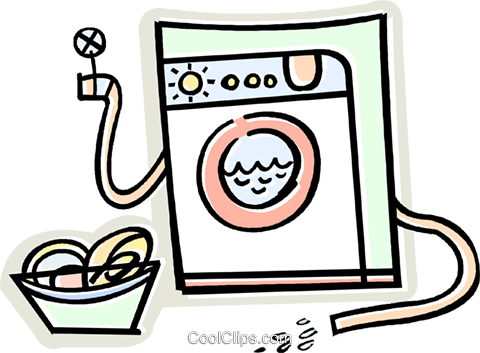 washing machine Royalty Free Vector Clip Art illustration vc011650