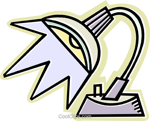 desk lamp Royalty Free Vector Clip Art illustration vc011656
