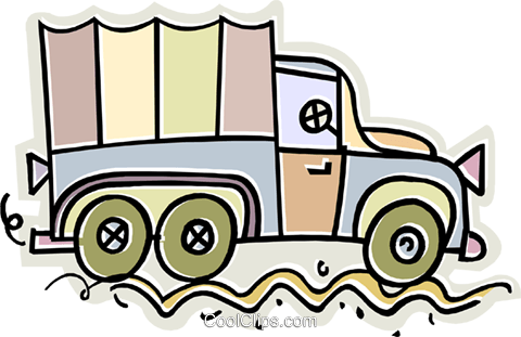 truck Royalty Free Vector Clip Art illustration vc011659