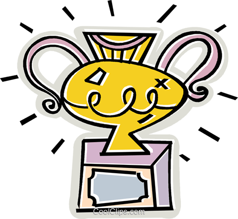 trophy Royalty Free Vector Clip Art illustration vc011664