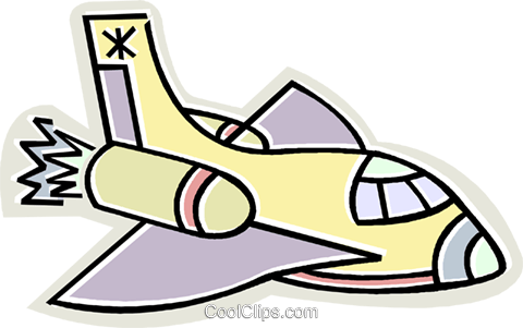 space shuttle Royalty Free Vector Clip Art illustration vc011671