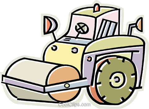 steamroller Royalty Free Vector Clip Art illustration vc011677