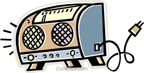radio Royalty Free Vector Clip Art illustration vc011678