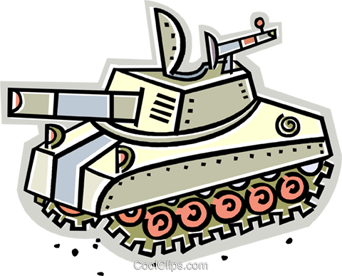 tank Royalty Free Vector Clip Art illustration vc011679
