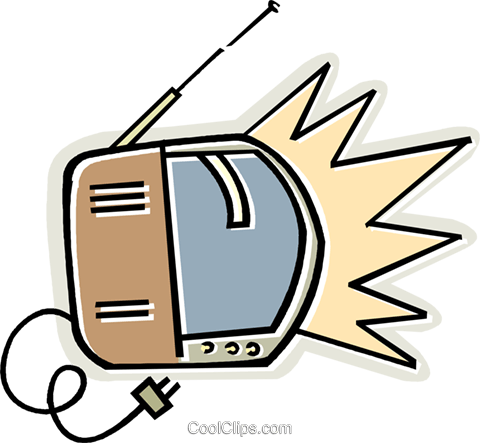 TV Royalty Free Vector Clip Art illustration vc011680