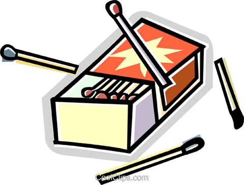 matches Royalty Free Vector Clip Art illustration vc011681