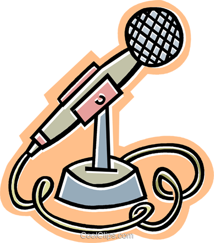 microphone Royalty Free Vector Clip Art illustration vc011684