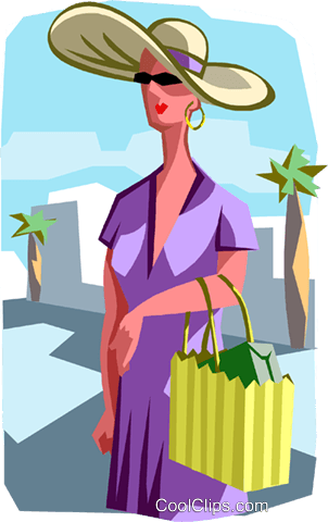 shopping Royalty Free Vector Clip Art illustration vc011690