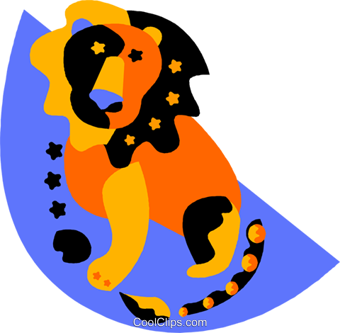 Astrology, Leo Royalty Free Vector Clip Art illustration vc011702