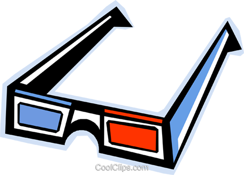 3-D eyeglasses Royalty Free Vector Clip Art illustration vc011713