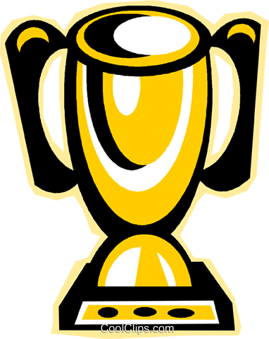 trophy Royalty Free Vector Clip Art illustration vc011716