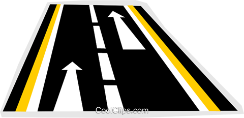 highway Royalty Free Vector Clip Art illustration vc011717
