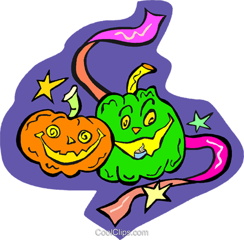 Halloween pumpkins Royalty Free Vector Clip Art illustration vc011723