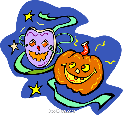 Halloween pumpkins Royalty Free Vector Clip Art illustration vc011724