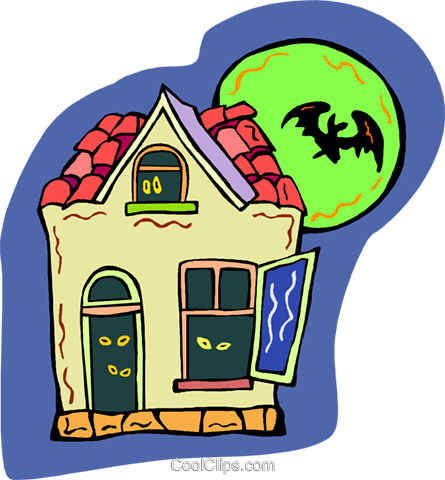 haunted house Royalty Free Vector Clip Art illustration vc011725
