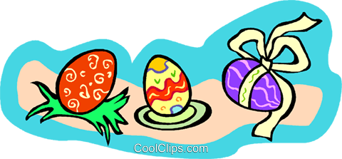 Easter eggs Royalty Free Vector Clip Art illustration vc011727