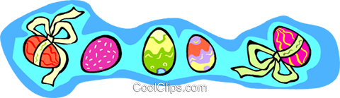 Easter eggs Royalty Free Vector Clip Art illustration vc011728
