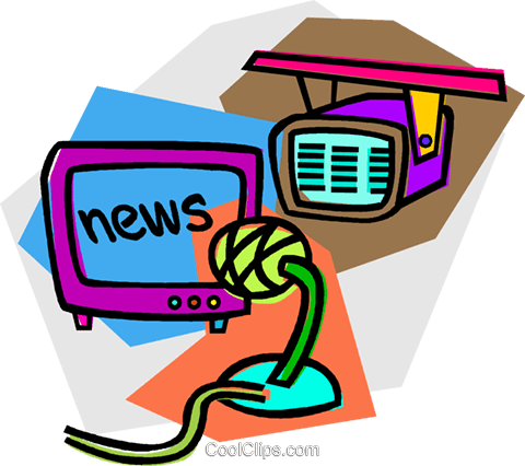 news broadcast Royalty Free Vector Clip Art illustration vc011740
