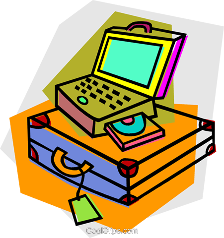 laptop computer Royalty Free Vector Clip Art illustration vc011745
