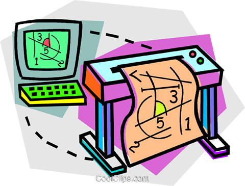 computer, printers Royalty Free Vector Clip Art illustration vc011748