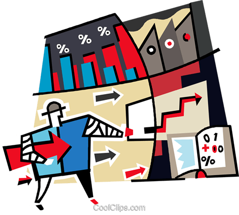 stock market Royalty Free Vector Clip Art illustration vc011749