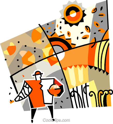 harvest Royalty Free Vector Clip Art illustration vc011754