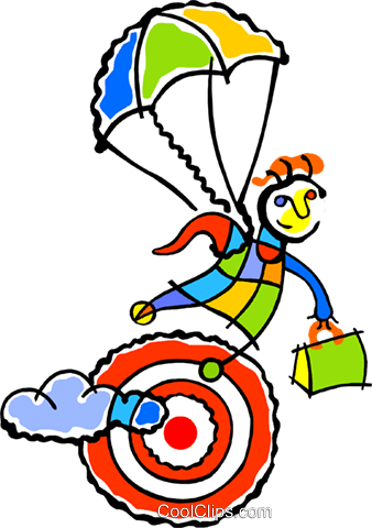 parachute Royalty Free Vector Clip Art illustration vc011763