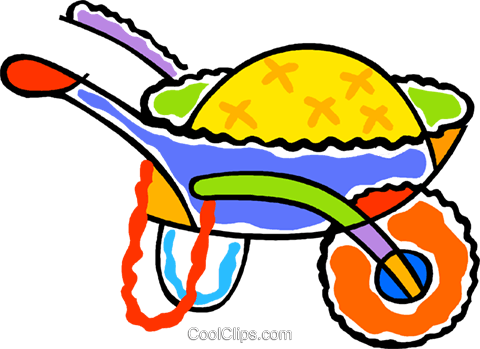 wheel barrow Royalty Free Vector Clip Art illustration vc011764