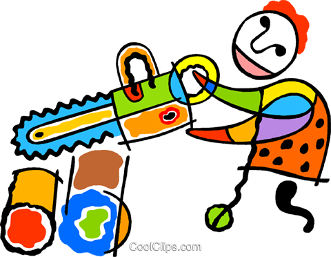 chainsaw Royalty Free Vector Clip Art illustration vc011766