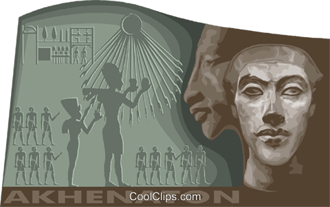 Akenaton, Egyptian history Royalty Free Vector Clip Art illustration vc011772