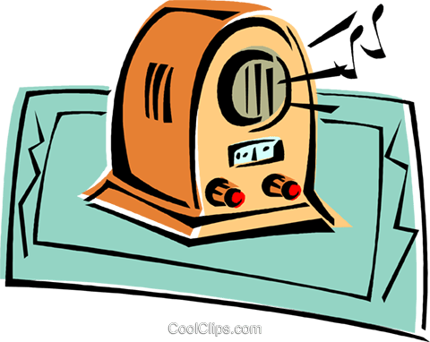 radio Royalty Free Vector Clip Art illustration vc011775
