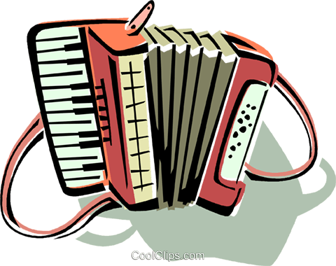 accordion Royalty Free Vector Clip Art illustration vc011781