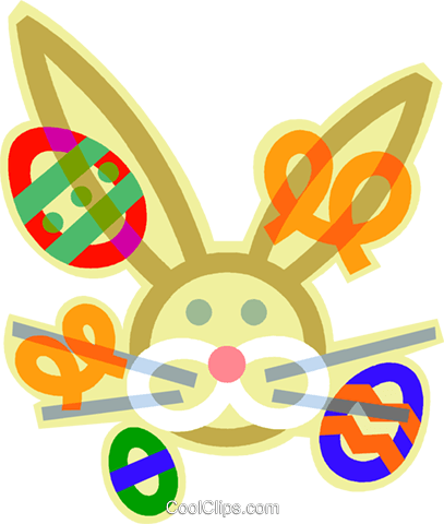 Easter bunny Royalty Free Vector Clip Art illustration vc011784