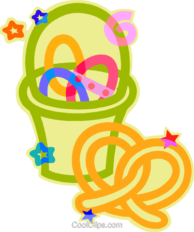 Easter basket Royalty Free Vector Clip Art illustration vc011785