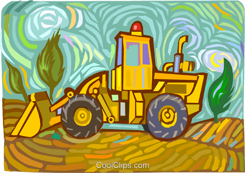 Front End Loader Royalty Free Vector Clip Art illustration vc011794