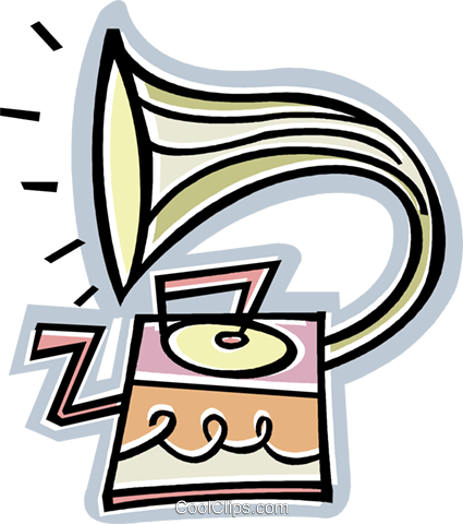 record player Royalty Free Vector Clip Art illustration vc011800