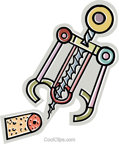 cork screw Royalty Free Vector Clip Art illustration vc011801