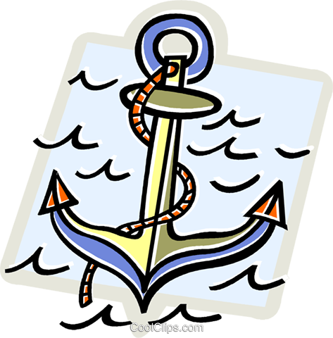 anchor Royalty Free Vector Clip Art illustration vc011805